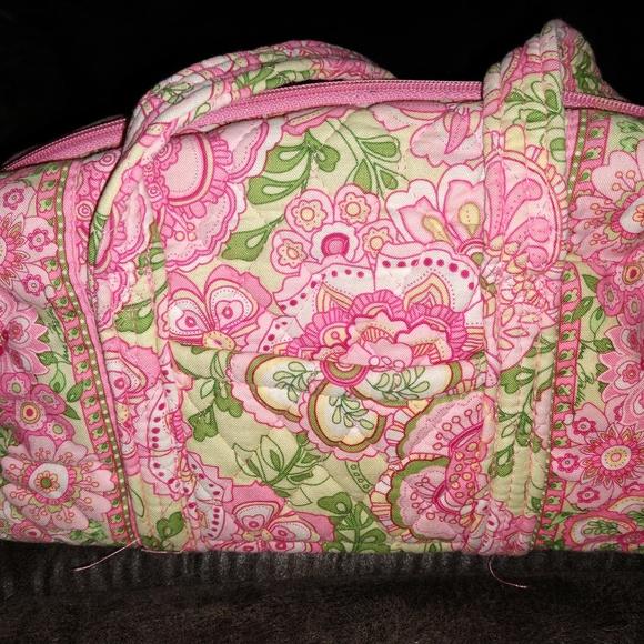 Vera Bradley Handbags - VERA BRADLEY - PETAL PINK - SMALL DUFFEL BAG